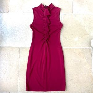 Sleeveless Ruffle front Elie Tahari Dress